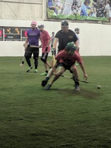 Indoor Hurling 2018, Match 2: Lumberjacks vs. Panthers 1